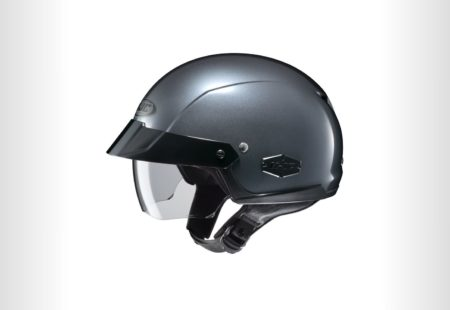 <h3>HJC IS-CRUISER</h3>This helmet's modern graphics and clear lines will appeal to riders looking to add-up a clean minimalistic touch to their attire. The shell is very light with a slide visor - a perfect combination for the ones who don't want to compromise stylishness for comfortness. The tinted sun glass will allow to have additional weather protection if needed. Other features include a nylon strap D-Ring retention system.<strong>From $114.99</strong>