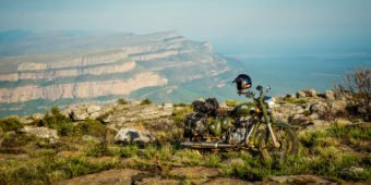 motorcycle and landscape in africa