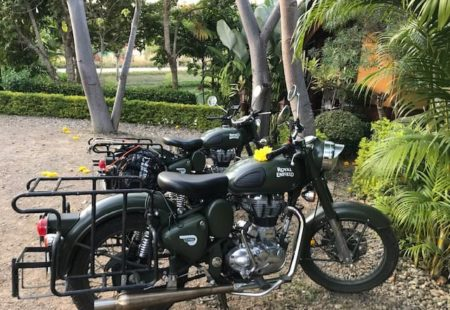 "<strong>Was this <a href=""https://www.vintagerides.travel/motorcycle-tour/thailand/"">motorcycle tour in Thailand</a> your first Vintage Rides experience?</strong>Laurent already did two Freedom Formula motorcycle tours in India with you in Rajasthan and Uttarkhand. It was a trip of firsts for me, as I had never ridden a motorbike, let alone been on a Vintage Rides tour!<strong>How did this motorcycle tour come about?</strong>We really fancied going away somewhere far and exotic, ideally with some sun. In February 2018, we set off for Chiang Mai, where we had booked your <a href=""https://www.vintagerides.travel/motorcycle-tour/thailand/freedom-formula-north-thailand/"">Freedom Formula in North Thailand</a>. We wanted to be in charge of our own rout, stopping places and make up our own road book. This option didn't exist for Thailand, but we were able to prove that it would be worth adding it."