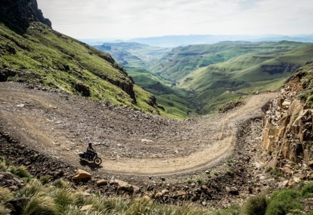 """<strong>1- Could you describe this new tour?</strong>This new <a href=""""https://www.vintagerides.travel/motorcycle-tour/south-africa/"""">motorcycle tour of South Africa</a> kicks off close to Durban, along the Indian Ocean coast. We then head towards Mozambique, getting our first glimpse of wildlife pretty much immediately by visiting St Lucia, Hluhluwe and Pongola Game Reserves. We cross the border to Swaziland, a small peculiar kingdom, boasting a wonderful maze of tracks. We reach the north-east of South Africa, where we marvel at the views of Blyde River Canyon and the famous Kruger National Park. We continue our adventure, crossing Swaziland once again, then the Midlands pastures with the imposing Drakensberg in sight. Then, we tackle the legendary Sani Pass, the gateway to the kingdom of Lesotho. Lastly, we make our way back along the South African coast to finish off with a well-deserved dip in the Indian Ocean."""