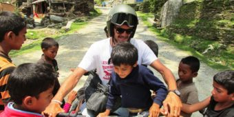 francis with children motorcycle